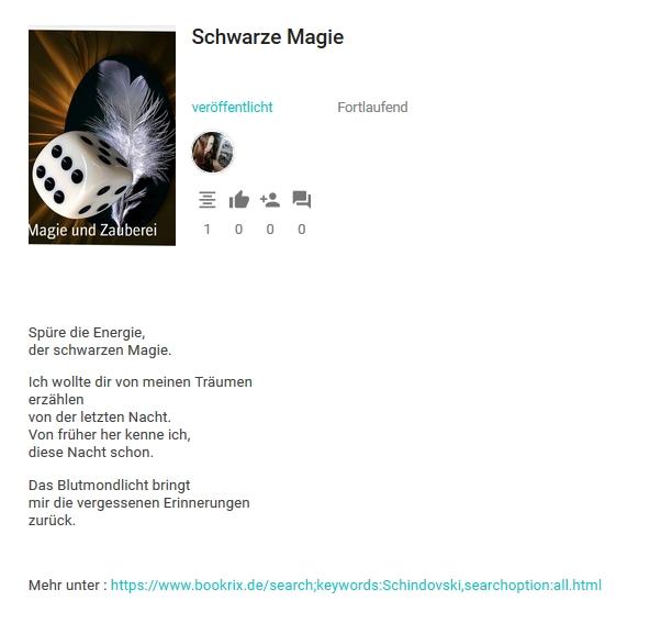 Bildgedicht: Schwarze Magie