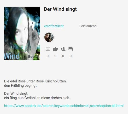 Bildgedicht: Der Wind singt