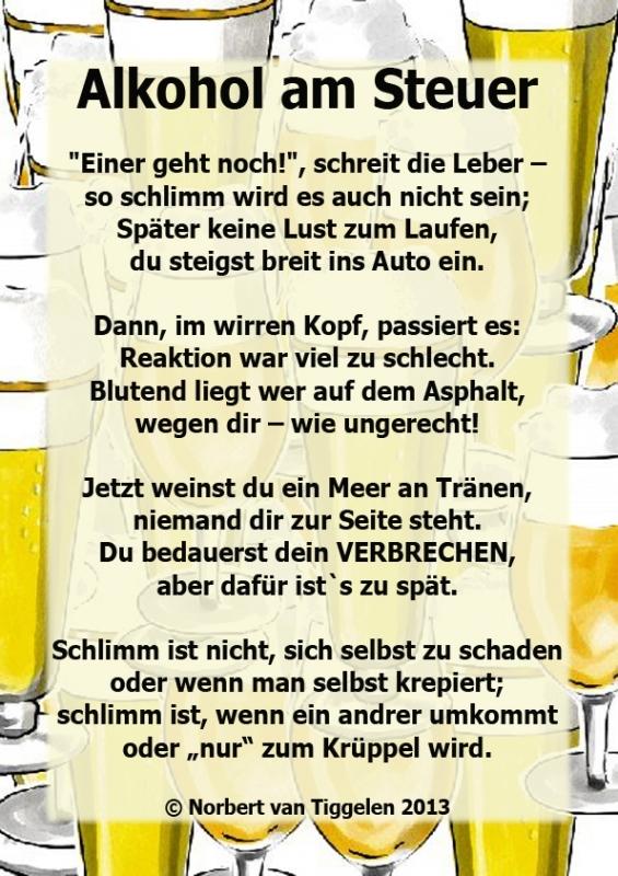 Gedicht zum 18 geburtstag alkohol