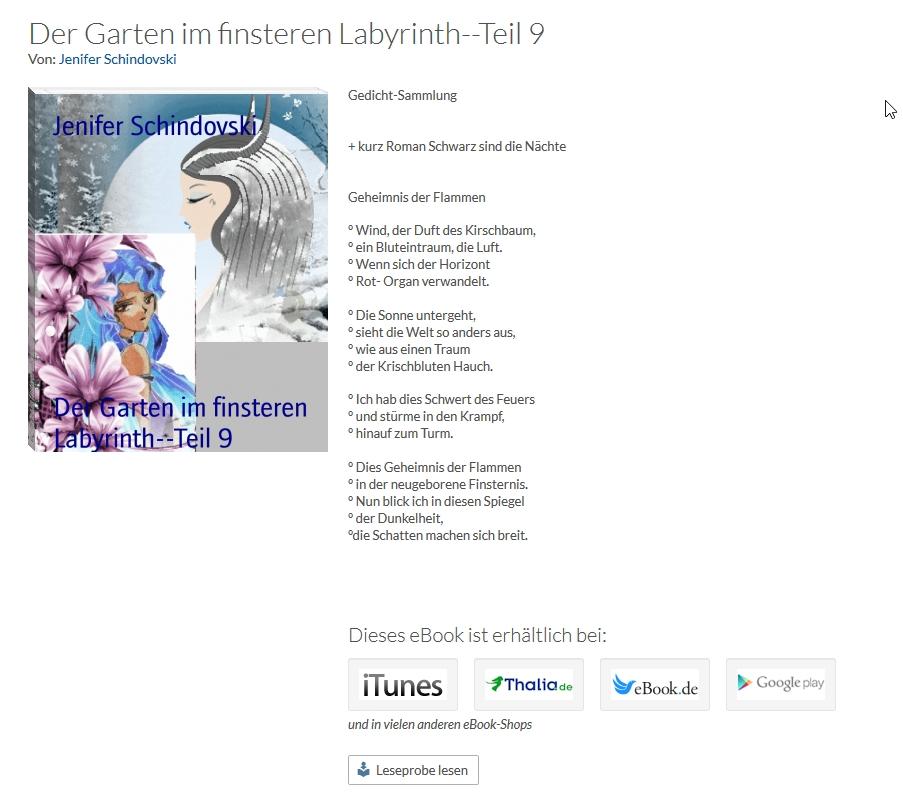Bildgedicht: Der Garten im finsteren Labyrinth Teil 9