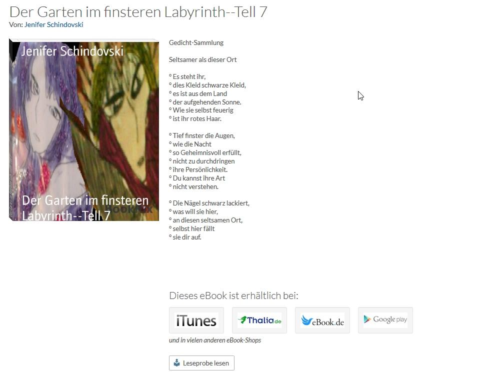 Bildgedicht: Der Garten im finsteren Labyrinth Teil 7