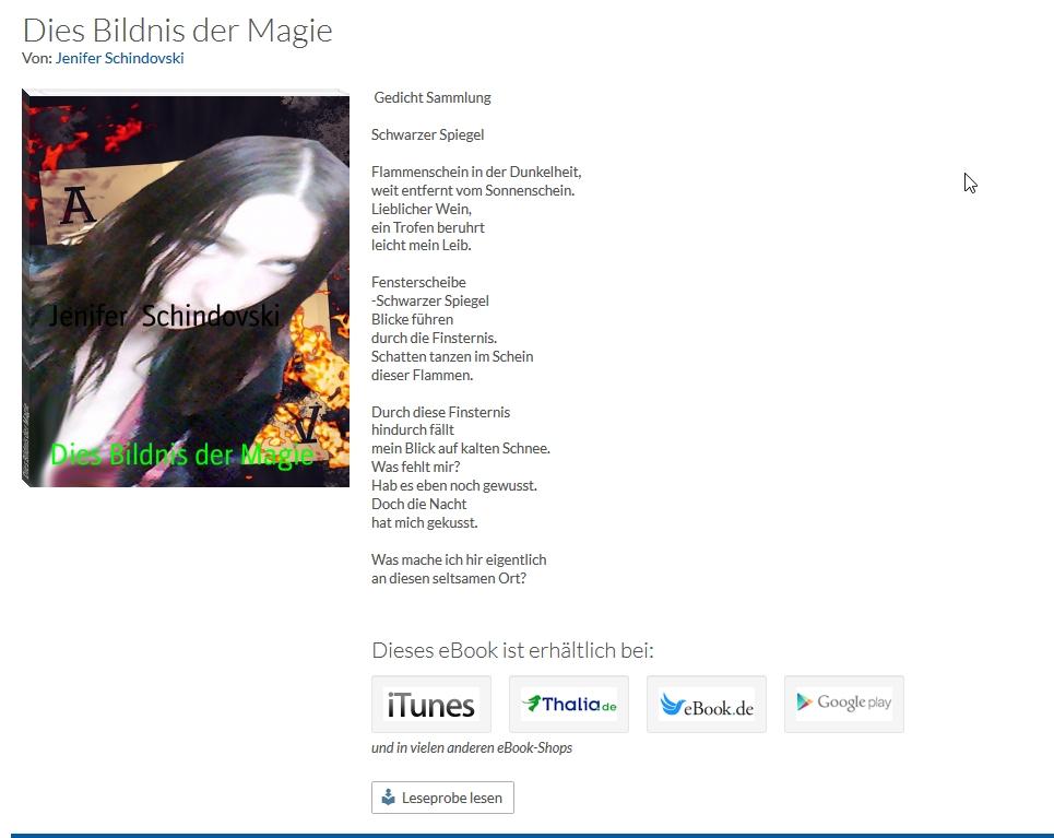 Bildgedicht: Dies der Magie